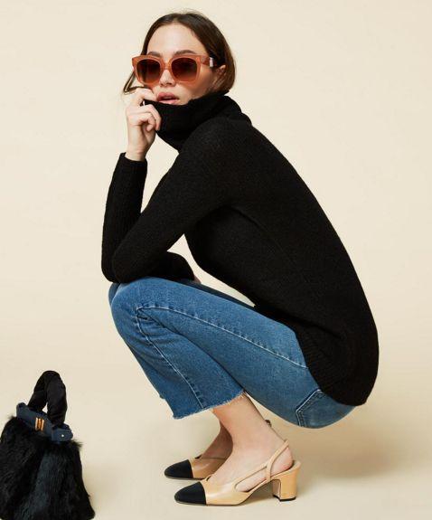 chanel slinback beige black - Beżowo-czarne buty Chanel i ich tańsze odpowiedniki