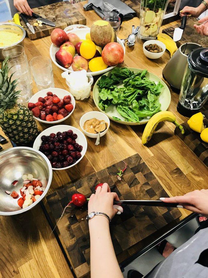 ekologiczne i swieze owoce oraz warzywa - Warsztaty kulinarne w Food Lab Studio w Warszawie
