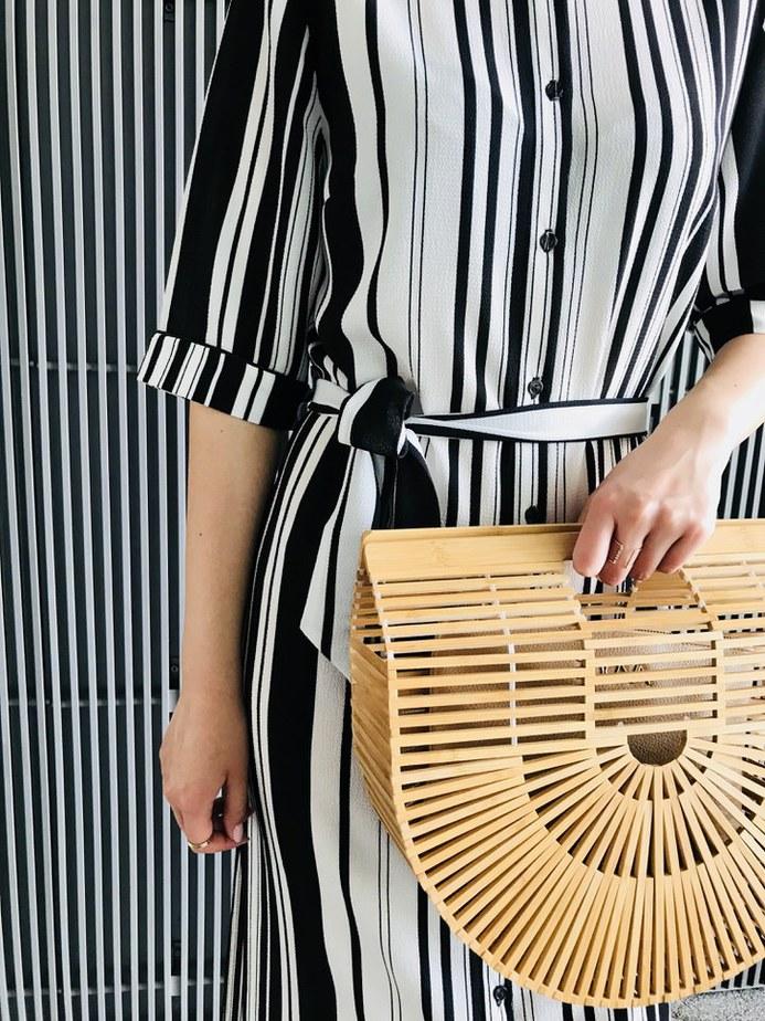 drewniany koszyk stylizacja