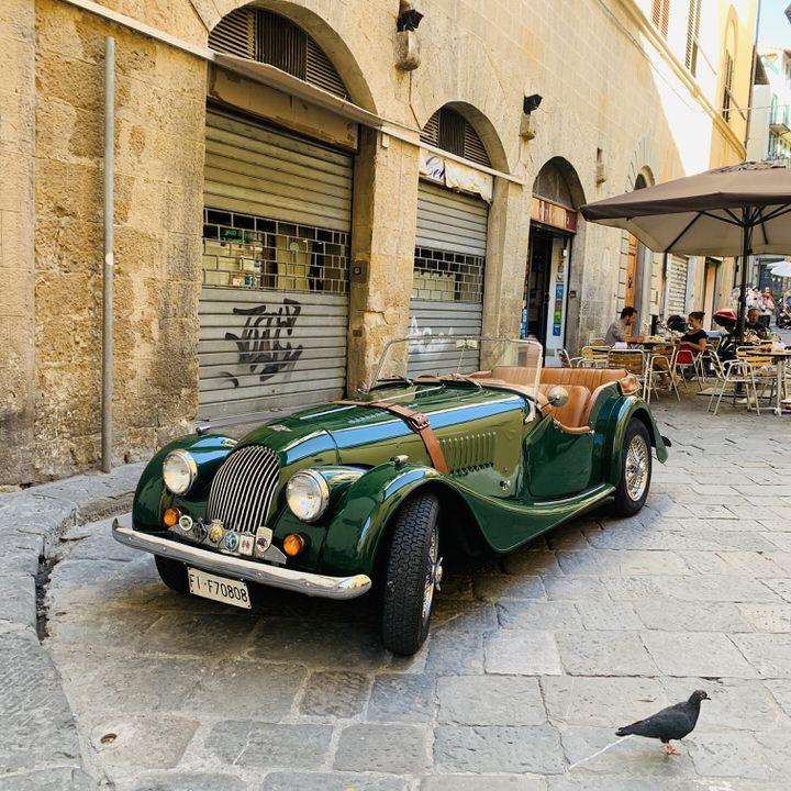 Florencja retro samochód włoski