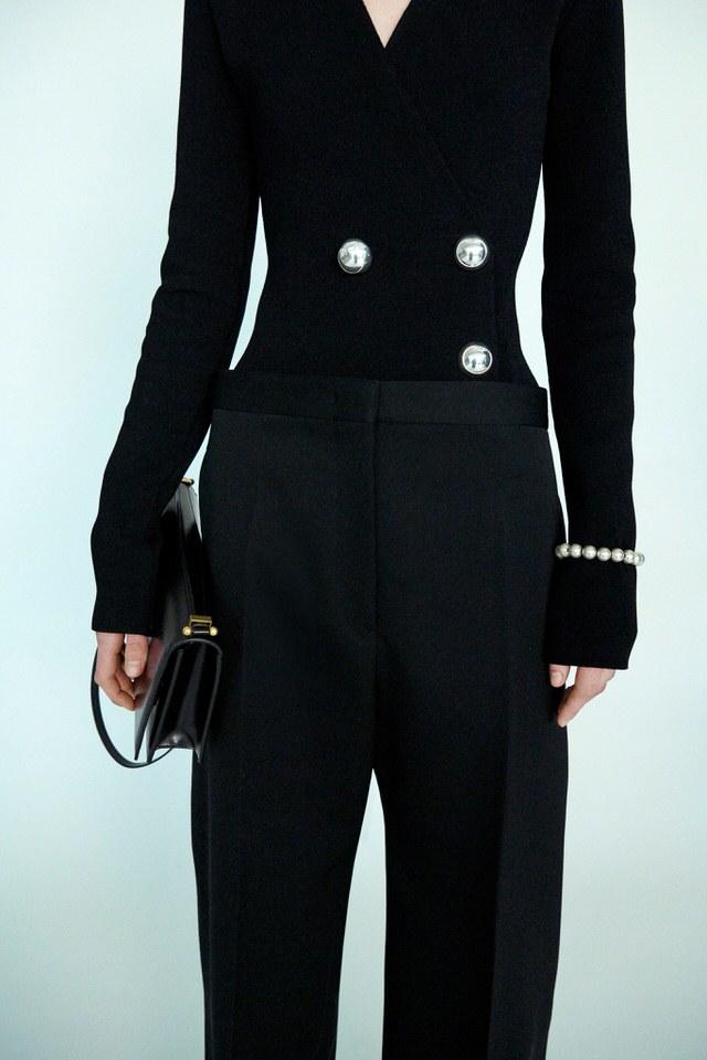 perełki marynarka czarna