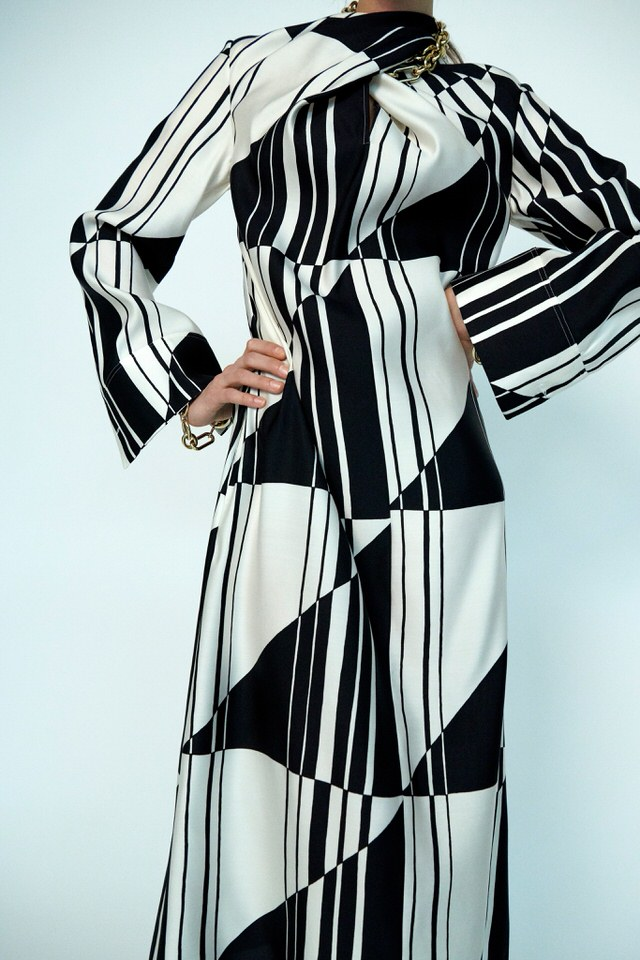 Jil Sander sukienka we wzory