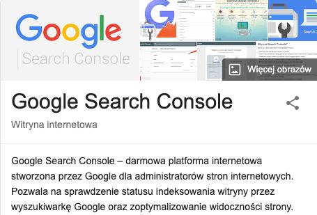 google search console definicja wikipedia