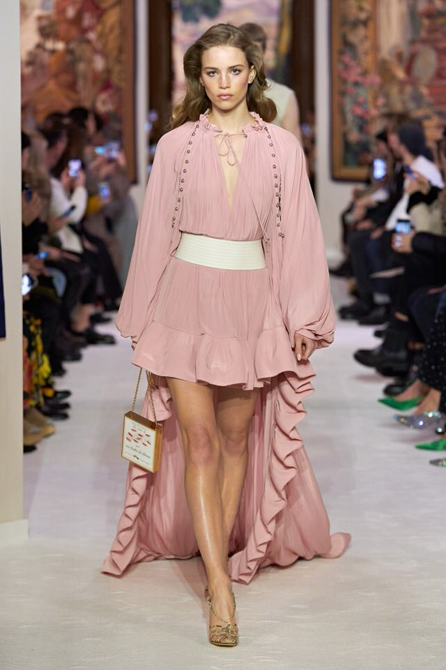 airy powder pink dress